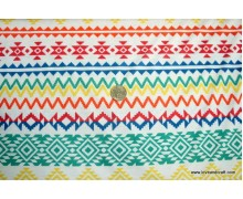 *FT2615(20)-* Knit Jersey: Colorful Tribal Chevron
